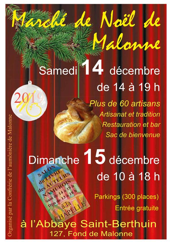 Marché de Noël et salon du livre namurois @ Cloître de l'Abbaye de Malonne | Malonne | Wallonie | Belgique