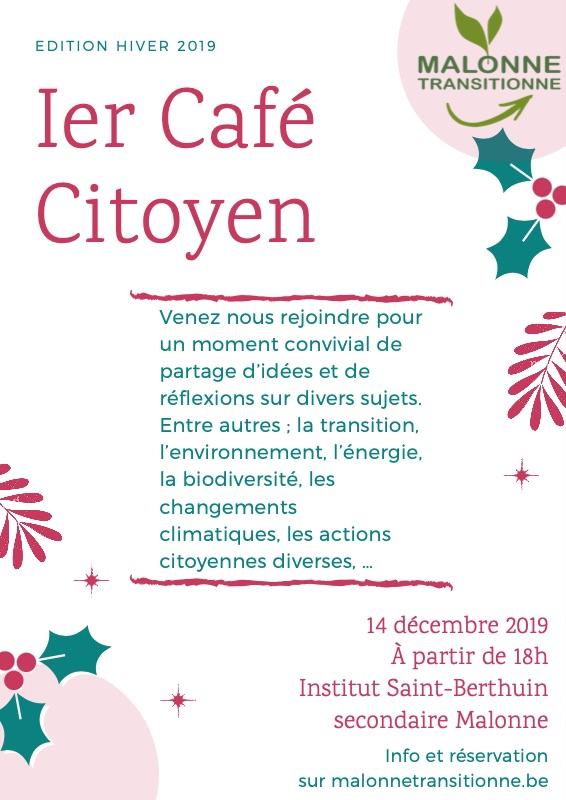 Premier café citoyen de Malonne Transitionne ! @ Institut Saint-Berthuin secondaire
