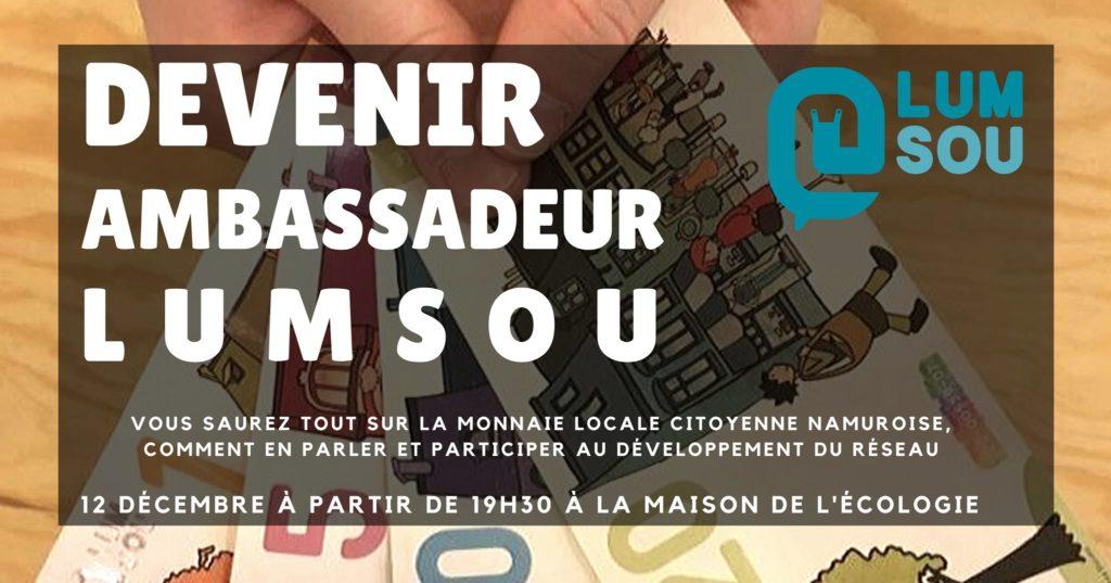 Devenir ambassadeur Lumsou @ La maison de l'écologie