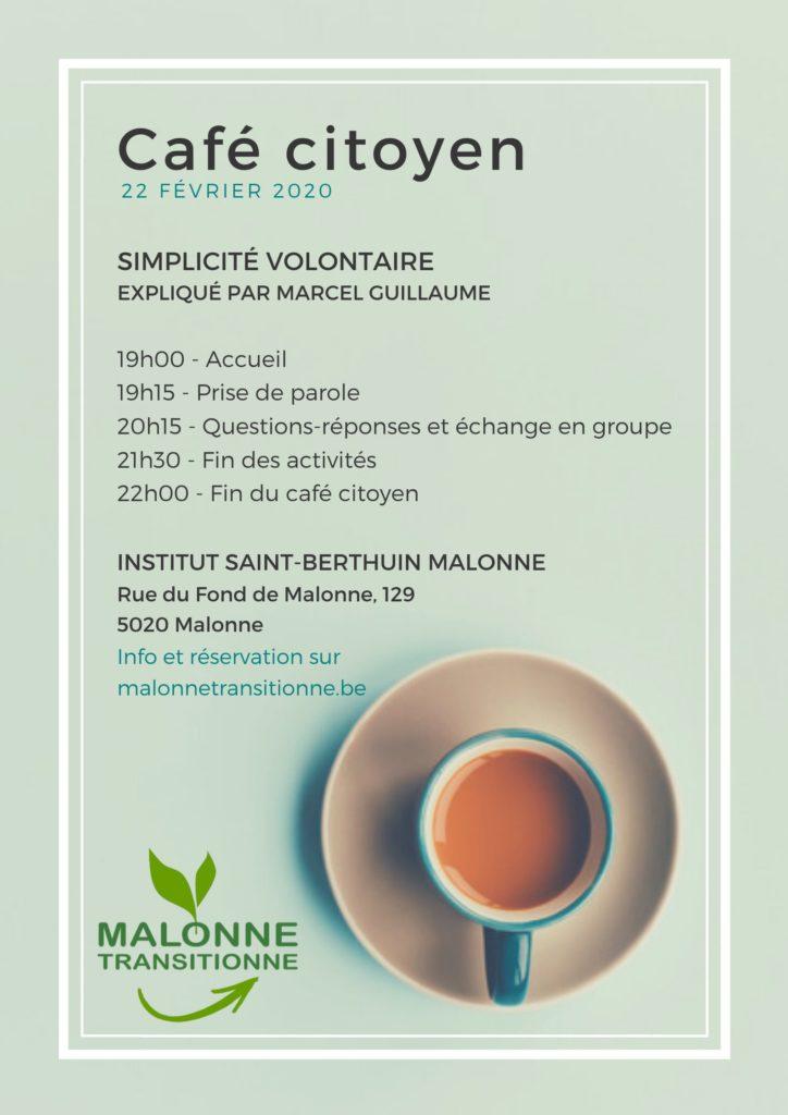 2e café citoyen : la simplicité volontaire @ Institut St Berthuin | Namur | Wallonie | Belgique