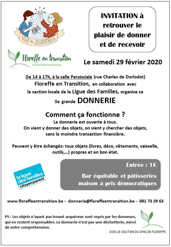 3e donnerie de Floreffe en transition @ Salle Paroissiale | Floreffe | Wallonie | Belgique