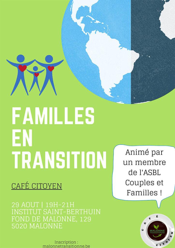 Café citoyen : Familles en transition @ Institut St Berthuin | Namur | Wallonie | Belgique